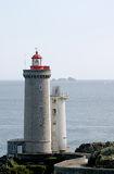 Lighthouse near the ocean. Lighthouse at the 'Pointe du Petit Minou' (West-coast of Brittany in France Stock Photos