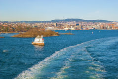 View of Oslo from a boat. Norway Royalty Free Stock Photography