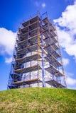 Lighthouse near padre island texas under construction Stock Image
