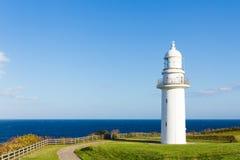 Lighthouse near Rausu, Hokkaido, Japan Stock Photos