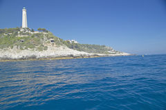Lighthouse near Saint Jean Cap Ferrat, French Riviera, France Royalty Free Stock Photos