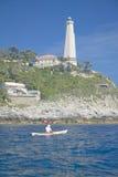 Lighthouse near Saint Jean Cap Ferrat, French Riviera, France Royalty Free Stock Photo