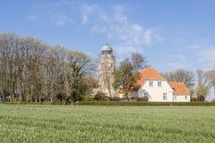 Lighthouse near Sonderby, Denmark. Lighthouse near Sonderby on Kegnaes island, Denmark, Europe Stock Photography