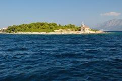 Lighthouse near Sucuraj in Croatia royalty free stock photo