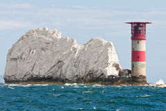 Lighthouse at the Needles Stock Photos