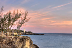 Lighthouse in Negril, Jamaica Royalty Free Stock Photos