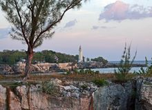 Lighthouse in Negril. The pictures shows the beautiful and famous lighthouse in Negril, Jamaica Stock Images