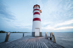 Lighthouse on Neusiedler See, Austria Stock Images