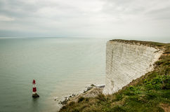 Lighthouse. New lighthouse seven sisters England Stock Images