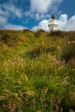 Lighthouse, New Zealand. Lighthouse in the Catlins, South Island in New Zealand stock photos