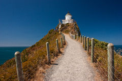 Lighthouse in New Zealand. Nugget Point Lighthouse on East Coast of New Zealand royalty free stock photos