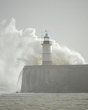 Lighthouse at Newhaven Harbour Royalty Free Stock Photography