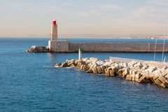 Lighthouse in Nice in south france Stock Photo