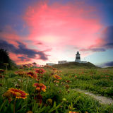 Lighthouse with nice view Royalty Free Stock Images