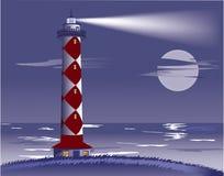 Lighthouse at night. Stock Photo