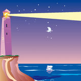 Lighthouse night Royalty Free Stock Images