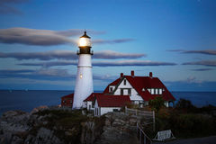 Lighthouse At Night Stock Photos