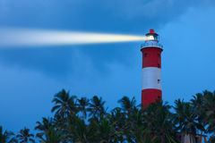 Lighthouse in night Royalty Free Stock Image