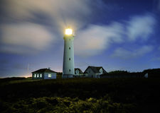 Lighthouse at night Stock Photography