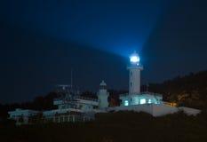 Lighthouse at night Stock Image