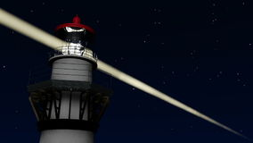 Lighthouse at Night stock footage
