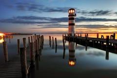 Lighthouse at night Stock Photos