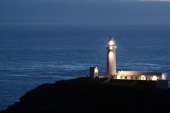 Lighthouse at night B Royalty Free Stock Images