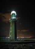Lighthouse at night,Damietta,Egypt. Lighthouse at night at the Mediterranean Sea, Damietta,Egypt Royalty Free Stock Photo