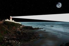 Lighthouse night light Royalty Free Stock Photos