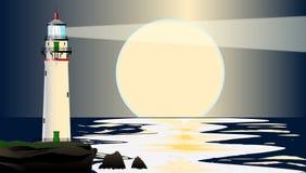 Lighthouse Night Royalty Free Stock Photography
