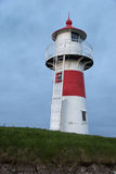 Lighthouse at night in Torshavn. Stock Photos