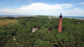 Lighthouse in North Carolina stock video footage