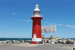 North Mole Lighthouse Royalty Free Stock Photography