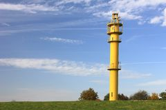 Lighthouse at the North Sea Stock Images