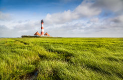 Lighthouse at North Sea Royalty Free Stock Photos