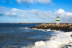 Lighthouse on North sea coast Royalty Free Stock Photo