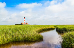 Lighthouse at North Sea, Germany Royalty Free Stock Photo