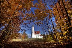 Lighthouse Northern Michigan Royalty Free Stock Images