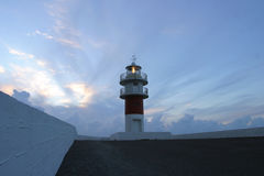 Lighthouse, Northern Spain Royalty Free Stock Images