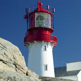 Lighthouse, Norway. Lighthouse with rock in Lindesnes, Norway Royalty Free Stock Image