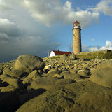 Lighthouse in Norway. Lighthouse in Lista, Norway, Scandinavia Royalty Free Stock Image