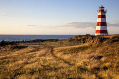 Lighthouse - Nova Scotia - Canada. Lighthouse in Nova Scotia, Canada provides a guiding light to sea travelers as the day comes to a close royalty free stock photography