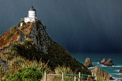 Lighthouse, Nugget Point, New Zealand Royalty Free Stock Photo