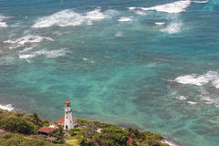 Lighthouse on Oahu, Hawaii Royalty Free Stock Images