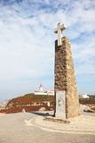 Lighthouse and obelisk with a cross Royalty Free Stock Photography