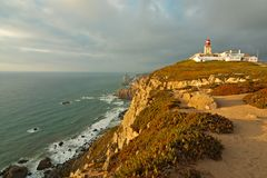 Lighthouse and Ocean Royalty Free Stock Photo