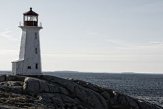 Lighthouse on the Ocean Royalty Free Stock Photography