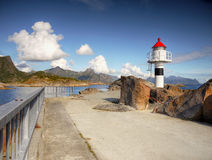Lighthouse  Ocean Coast Lofoten Norway Royalty Free Stock Photo