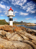 Lighthouse  Ocean Coast Nordland Royalty Free Stock Image
