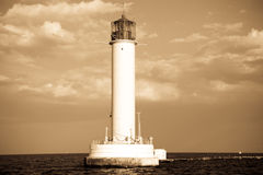 Lighthouse in Odessa Ukraine, photo in vintage sty Royalty Free Stock Photo